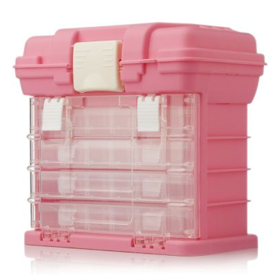 Pink Portable Craft Storage Caddy With Carry Handle Qvc Uk