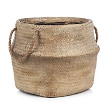 Giavita Woven Effect Basket Planter With Handles