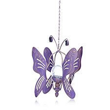 Compass Garden 2 in 1 Solar LED Butterfly Wind Spinner