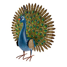 Jennings Decorative Fanned Peacock