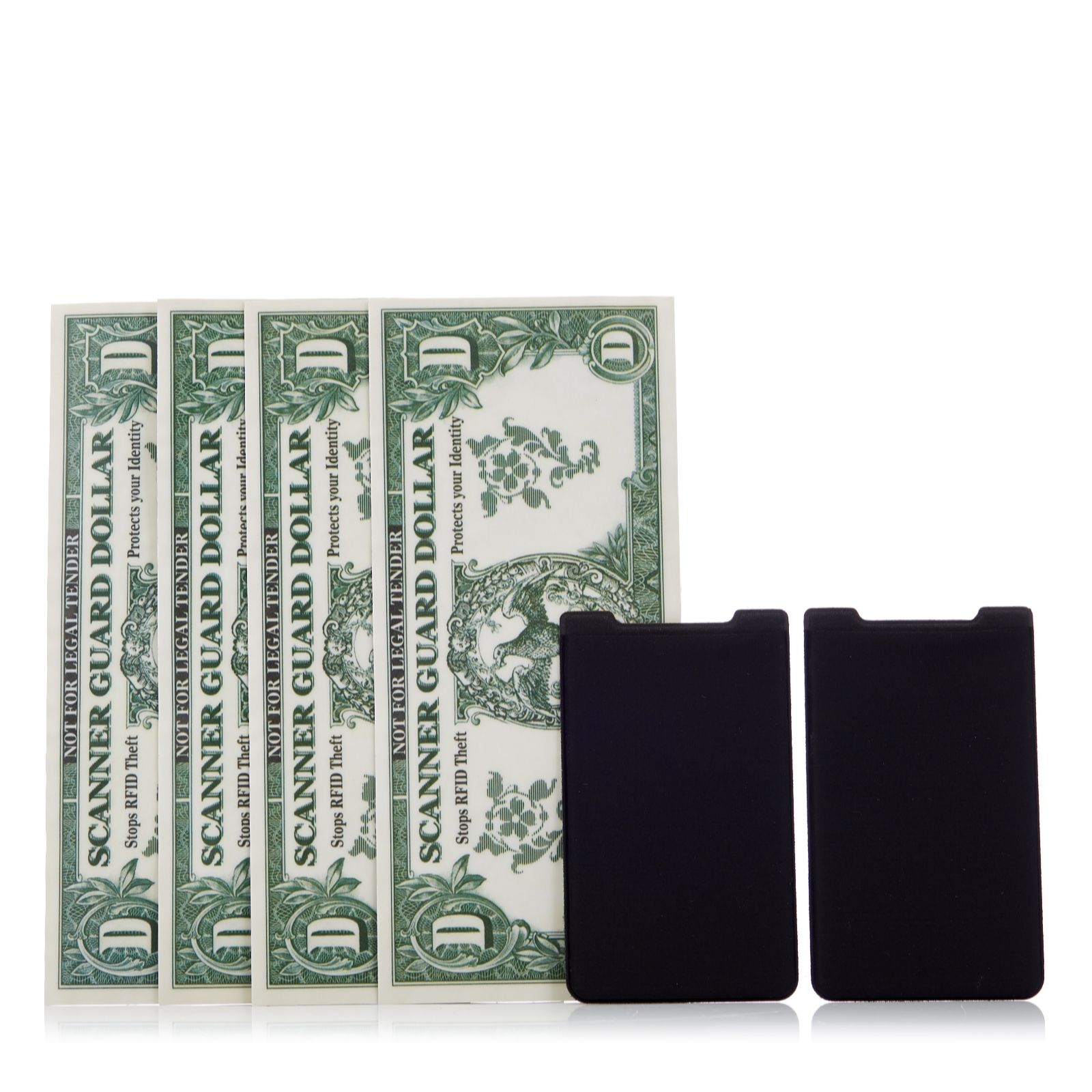 2bed98a78550 Scanner Guard 2 RFID Wallet Protectors& 2 RFID Mobile Phone Card Holders -  QVC UK