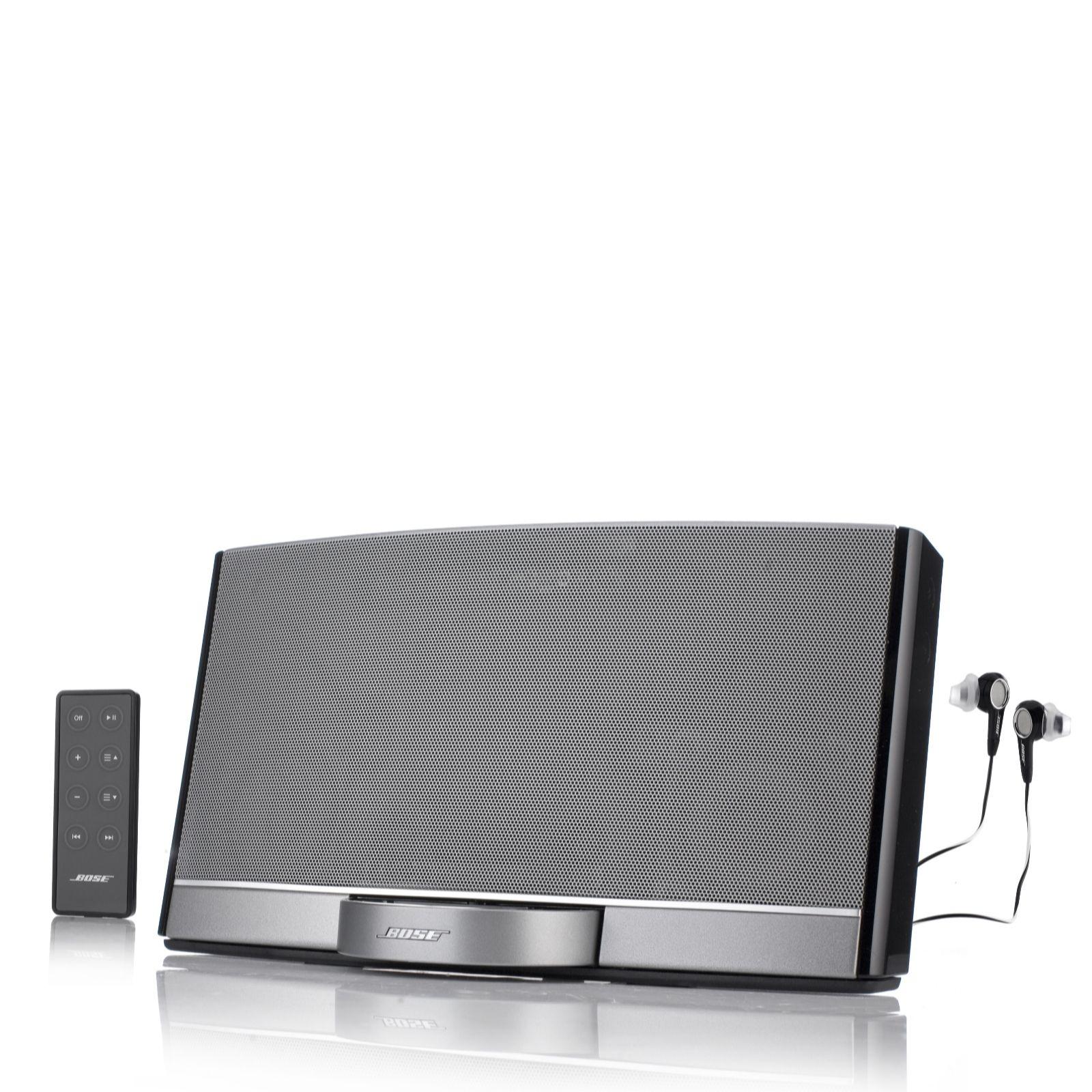 Bose SoundDock Portable Digital Music System & Bose In Ear Headphones - QVC  UK