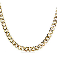 K by Kelly Hoppen Bold Statement Curb Necklace 18ct Gold Plated Bronze