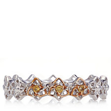 Clogau 9ct Rose Gold & Sterling Silver Eternal Daffodil Band Ring