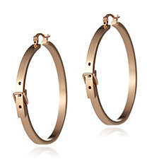 Eternal Buckle Hoop Creole Earrings Stainless Steel