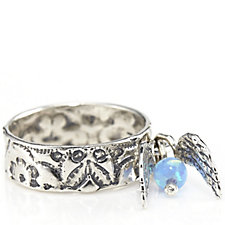 Or Paz Charm Ring Sterling Silver