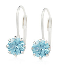 Sogni d'Oro 1.50ct Madagascan Apatite Leverback Earrings 9ct White Gold