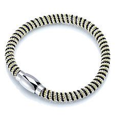 Eternal 3 Tone Wire Wrap Magnetic 18cm Bracelet Stainless Steel
