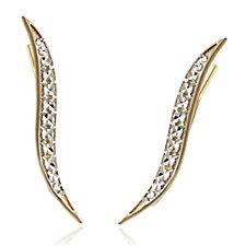 9ct Gold Diamond Cut Earclimbers