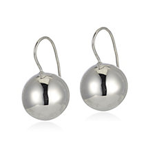 Bianca Platinum Plated Bead Earrings Sterling Silver