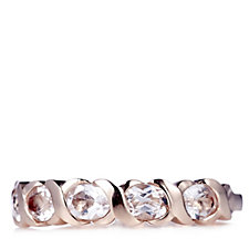 0.7ct Morganite 5 Stone Oval Kiss Ring 9ct Rose Gold