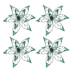 Alison Cork Set of 4 Flowers with Clips