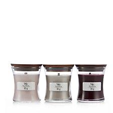 Woodwick Set of 3 Mini Jar Candle Set