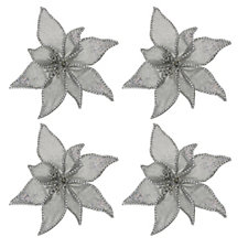 Alison Cork Set of 4 Velvet Flowers with Clips
