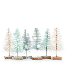 Home Reflections Set of 6 Mini Trees Decorations