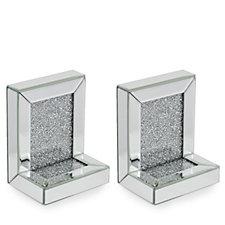 JM by Julien Macdonald Encapsulated Crystal Bookends