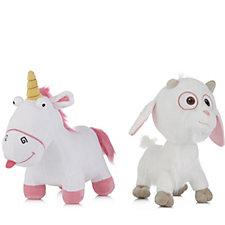 Despicable Me 3 Large Fluffy Unicorn & Lucky Unigoat Plush Toy