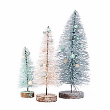 Home Reflections Set of 3 Brush Trees