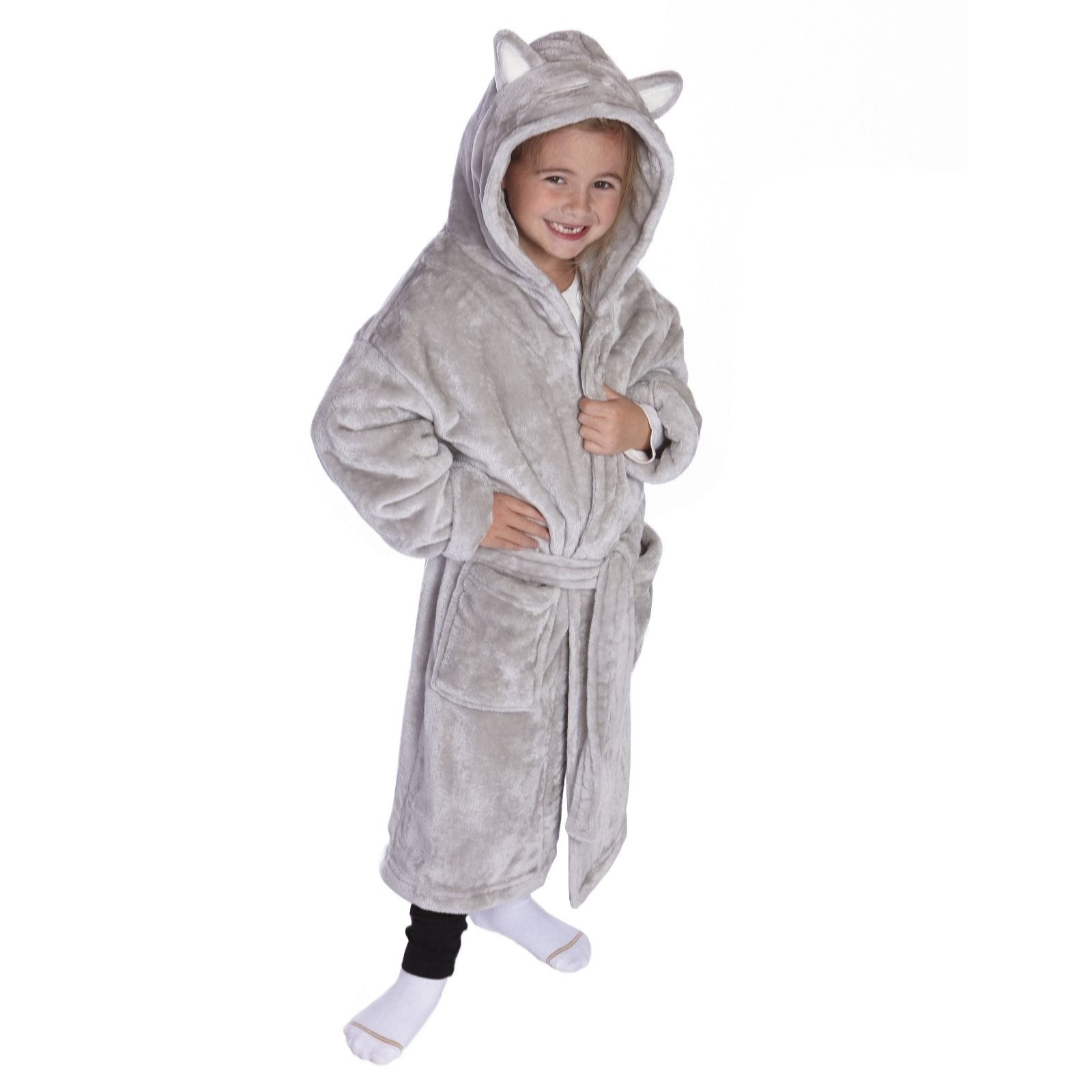dfba79375909b Cozee Home Children's Hooded Robe - QVC UK