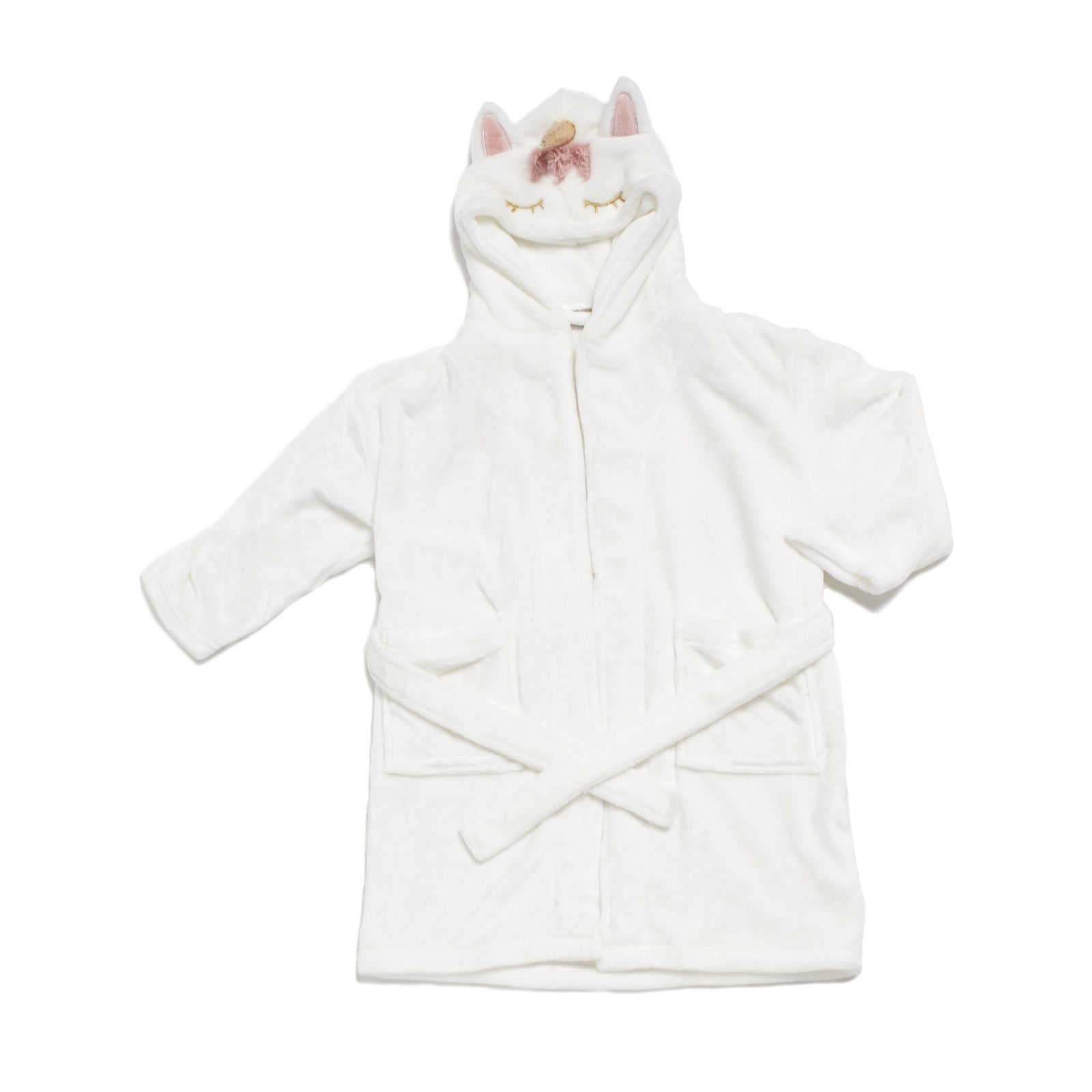 Cozee Home Children/'s Hooded Robe Various Sizes Dressing Gown Grey Cat