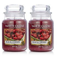 Yankee Candle Set of 2 Black Cherry Large Jars