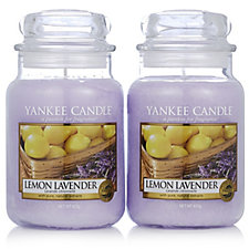 Yankee Candle Set of 2 Lemon Lavender Large Jars