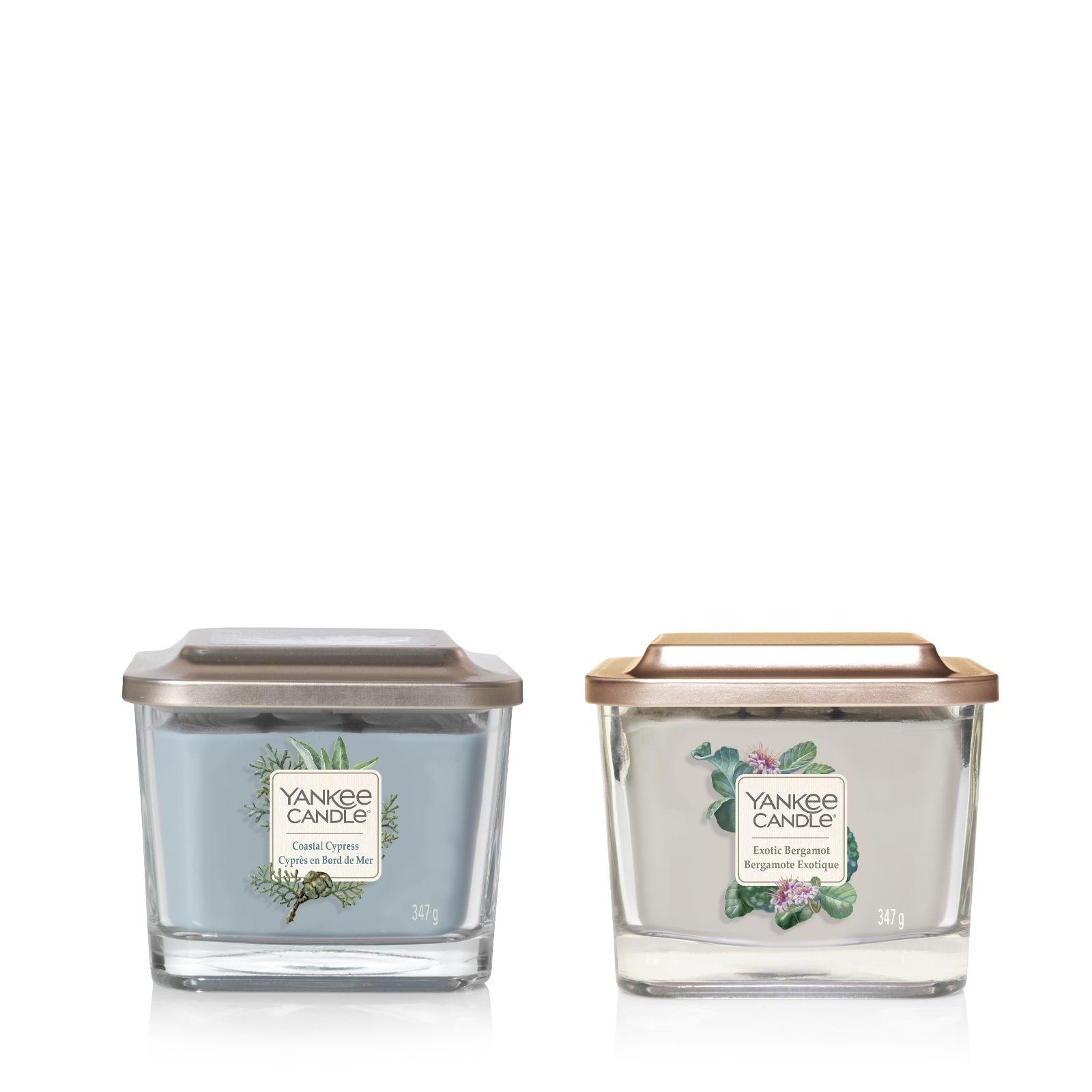 Yankee Candle Set of 2 Elevate Medium Jars - QVC UK