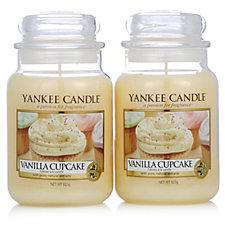 Yankee Candle Set of 2 Vanilla Cupcake Large Jars