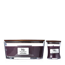 Woodwick Ellipse Hearthwick & Mini Jar Candle Set