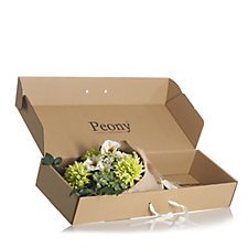 Peony Floral Bouquet in Presentation Box