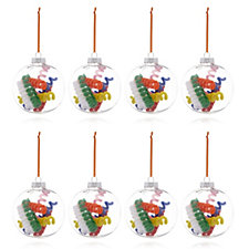 Home Reflections Set of 8 Curly Pipe Cleaner Baubles