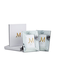 JM by Julien Macdonald Set of 2 Glass Photo Frames in Gift Boxes