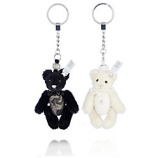 Steiff Ltd Edition Swarovski Wedding Teddy Bear Keyring Set