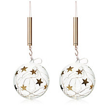 Home Reflections Set of 2 LED Star Baubles
