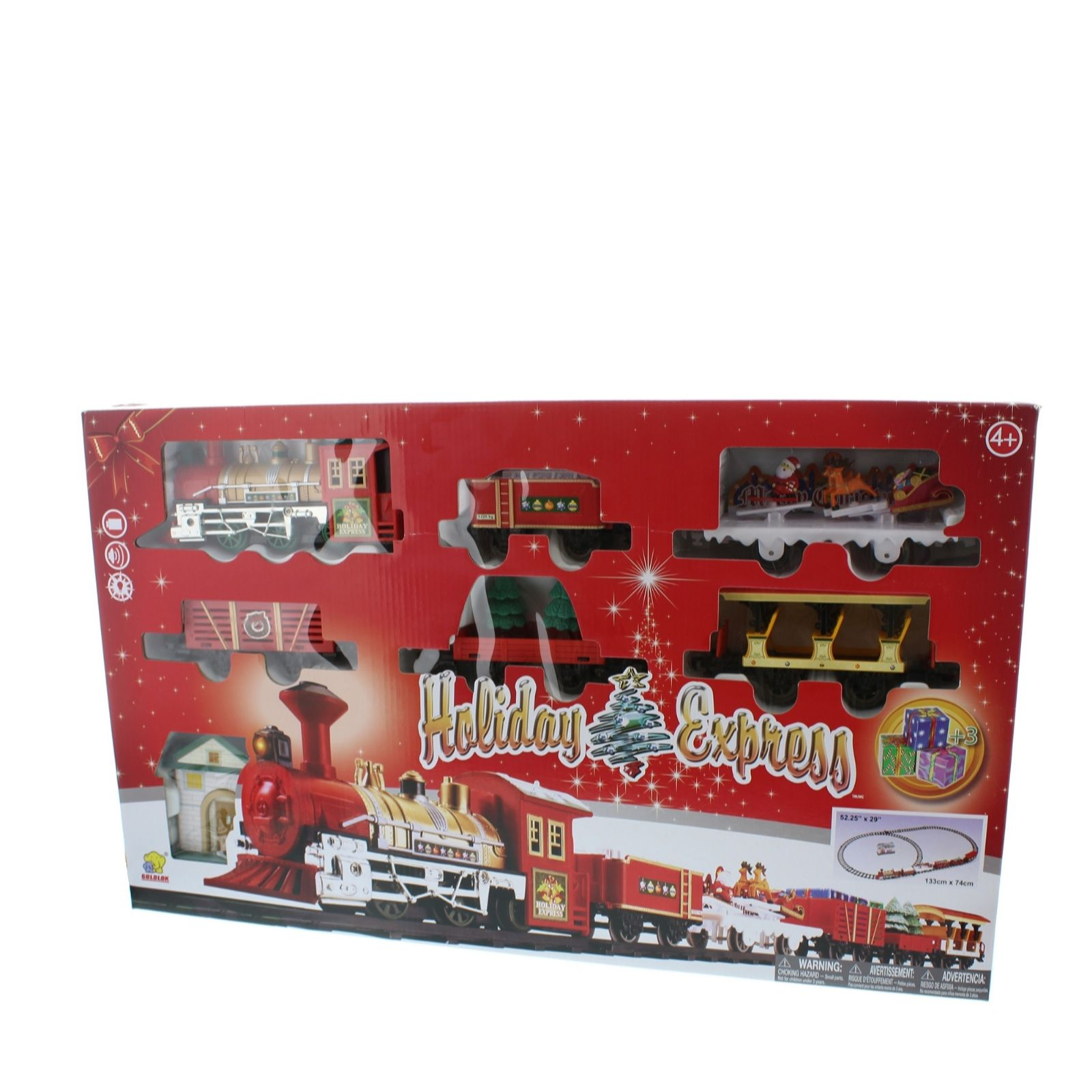 Festive Christmas Express Train Set - QVC UK