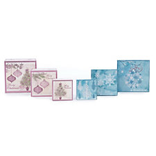 Lindy Bowman 6 Piece Christmas Embossed Gift Boxes