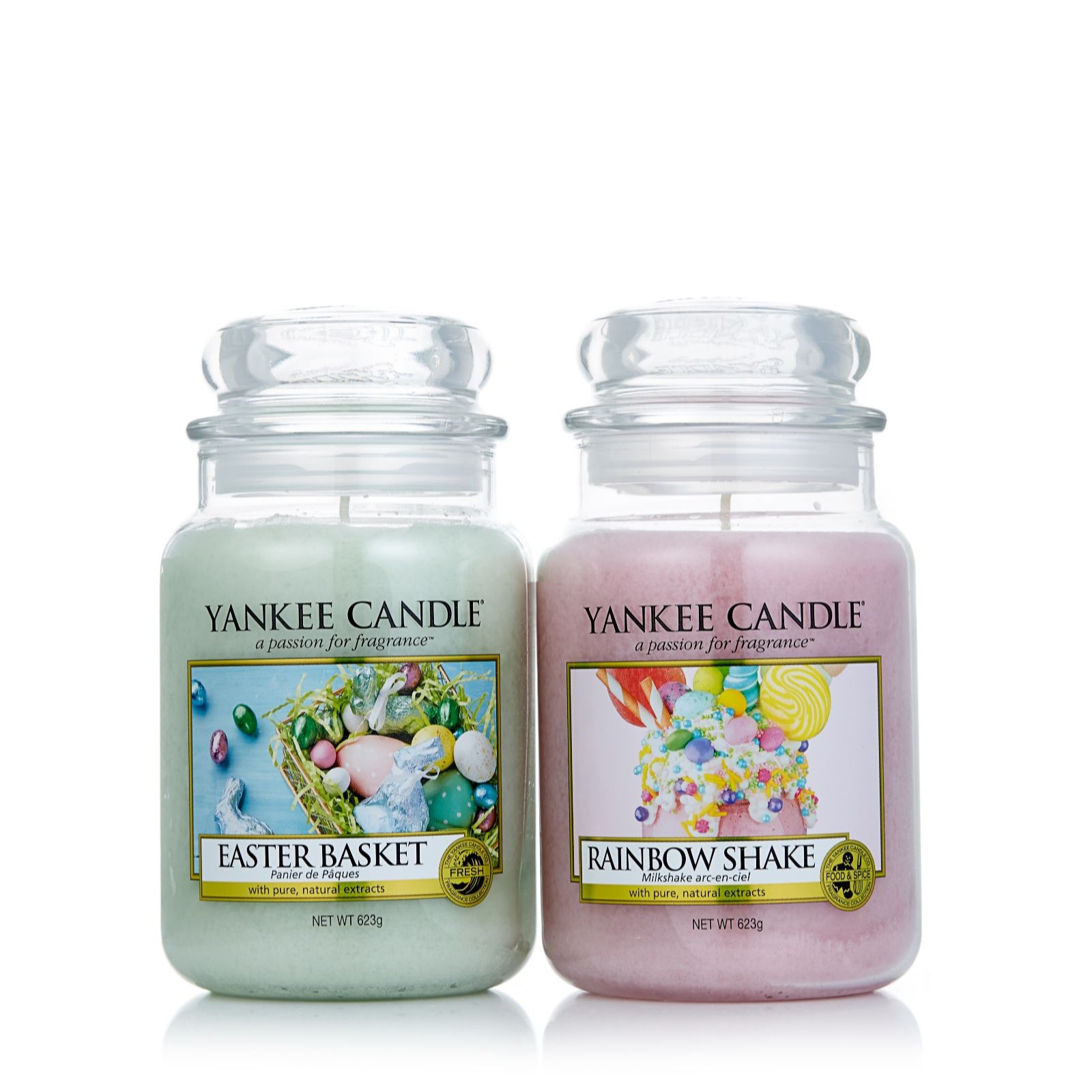 Yankee Candle Set of 2 Easter Scented Large Jars - QVC UK