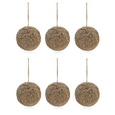Home Reflections Set of 6 Straw Hanging Decorations