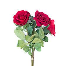 Peony Set of 3 Rose Stems