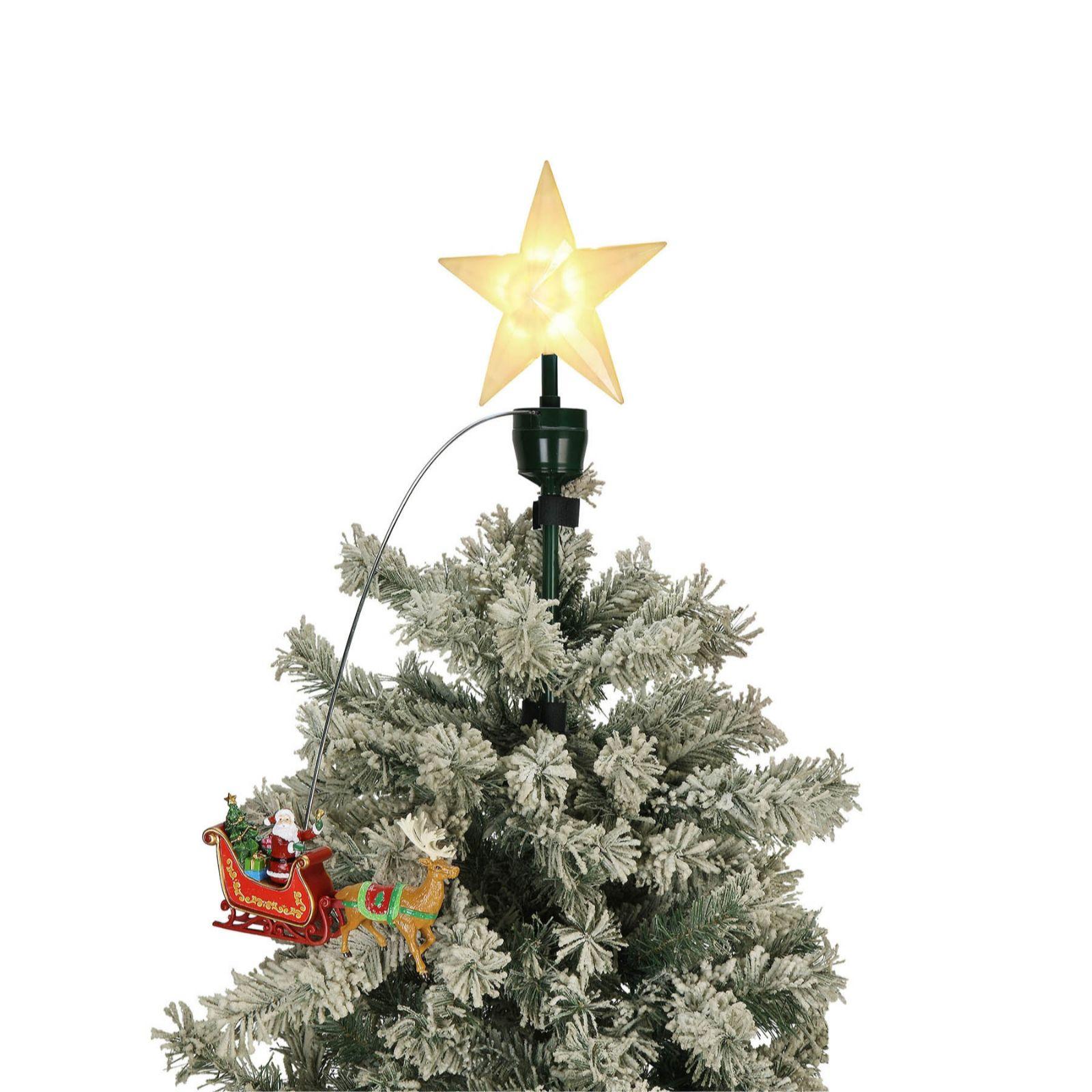 Qvc Christmas.Mr Christmas Animated Tree Topper Qvc Uk