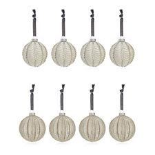 Alison Cork Set of 8 Antique Mercury Glass Baubles