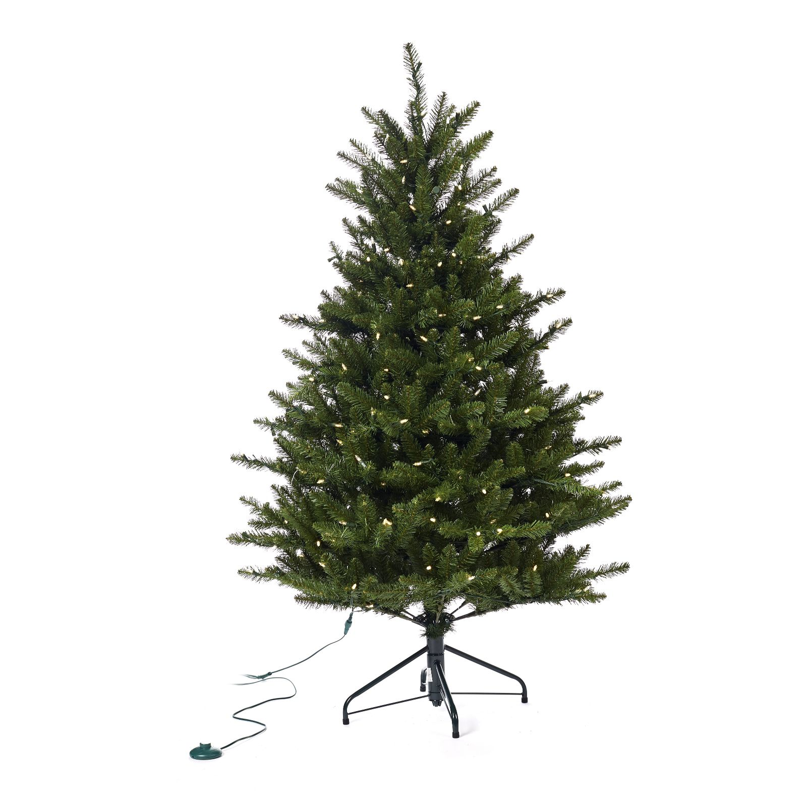 purchase cheap c5949 ff130 Santa's Best 5ft Fraiser Fir Christmas Tree With 240 Warm White Lights -  QVC UK