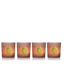Home Reflections Set of 4 Glass Cups with T Lights