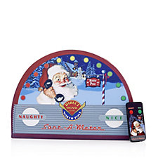 Mr Christmas Indoor Santa Meter with Remote Control