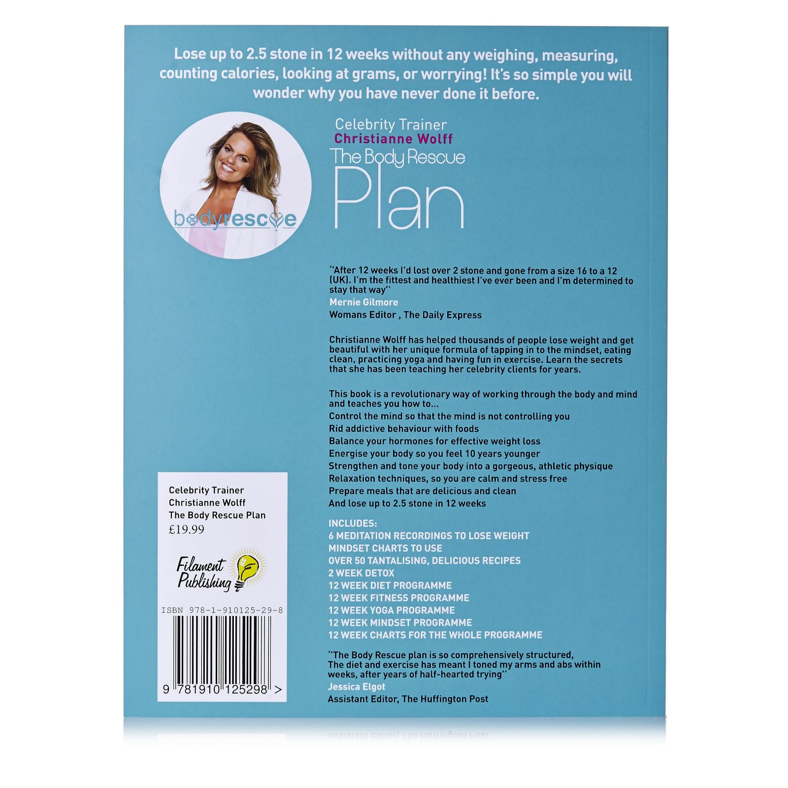 The Body Rescue Plan Paperback by Christianne Wolff - QVC UK