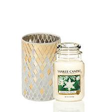 Yankee Candle Celebrate Christmas Sparkling Snow Large Jar & Holder
