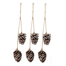 Alison Cork Set of 3 Hanging Large Pinecone Decorations