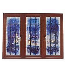Mr Christmas Illuminate Art Canvas Window