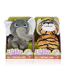 Zookies Set of 2 Wrap Around Plush