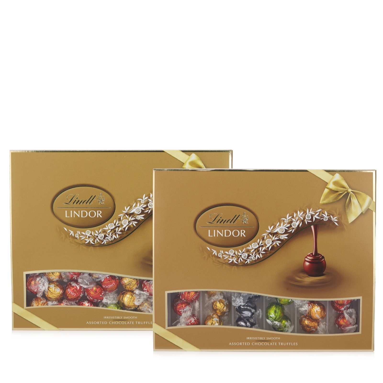 Lindt Set Of 2 Boxes Of Lindor Truffles Qvc Uk
